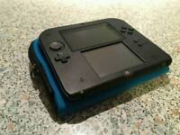 Nintendo 2ds (blue,black)good Condition with pokemon X