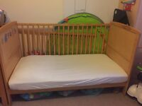 Cotbed for sale. Suitable from birth until 5 years, unless your 3 year old is as tall as ours!