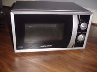Morphy richards manual microwave 20l 800w silver !