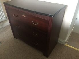 ***Reduced***Mahogany chest of drawers