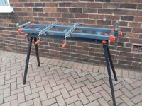 MITRE SAW WORK TABLE ( AS NEW )
