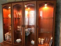 Display cabinet with lighting, immaculate condition