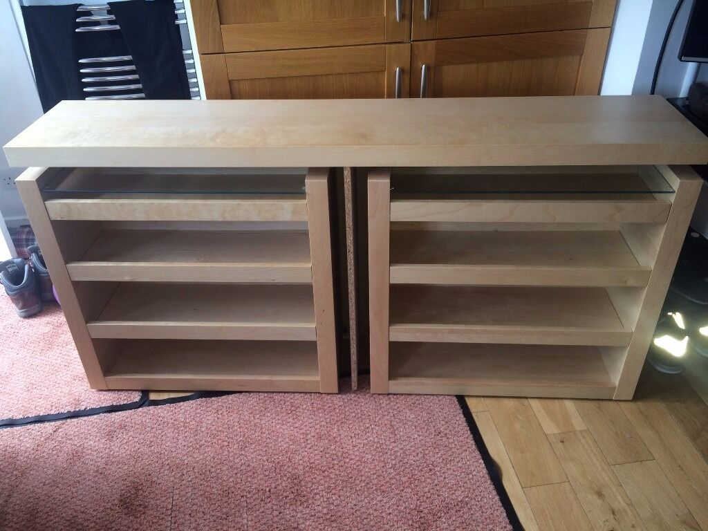 Ikea malm bed headboard with sliding storage units in for Headboard storage unit
