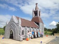 INFLATABLE CHURCH!! HIRE ITEM! MINT CONDITION!
