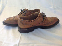 Loake Brown Brogue Shoes (UK 9) - genuine saving. Excellent condition.