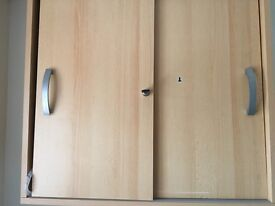 Hanging office storage unit lockable