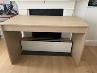 Light oak desk very good condition