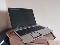 HP DV9500 17 Inch laptop, AMD Turion X2 1.8Ghz, 300GB, Nvidia Geforce 7100, Windows 10, Office