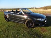 2007 Audi Quattro RS4 4.2 V8 Cabriolet -Black with Black Leather Recaro Seats