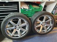 Ferrada FR1 20 inch wheels 5 X 114.3 with Michelin Pilot Sport 4 S tyres