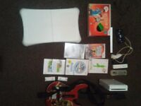 Wii console, games, and other bits
