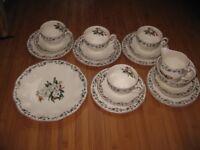 Vintage Part Teaset, Wedgwood Camellia, 1950's