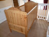 Mothercare cotbed cot / bed in good condition 2 cot base height settings Instructions