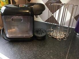 Bosch coffee machine with sachets stand