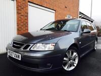 2007 07 Saab 9-3 Estate Vector Sport Anniversary 1.9 TID **Automatic+Paddles**FSH**SATNAV Leather