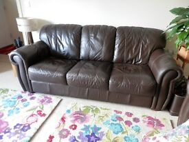 3 seater and 2 seater quality leather sofas'.