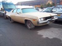 1972 Plymouth Satellite historic American muscle car, mild renovation project