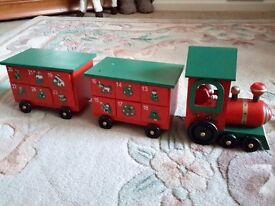 Advent wooden train