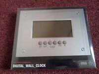 Flat screen digital wall clock