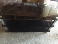 Glass tv cabinet stand coffee table