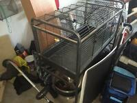 Metal Rabbit Cage on wheels