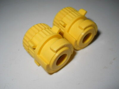 Lot 2 Keck Yellow Gl14 Threaded Or 10mm Od Barbed Adapters Ka14 No O-rings
