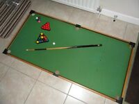 KIDS SNOOKER/POOL TABLE/ TABLE TOP SIZE