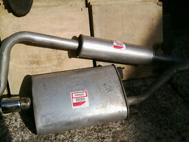 Exhaust system for Rover 414i & 416i (incl Cabriolet) chrome tail pipe
