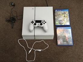 PlayStation 4, with FIFA 17 and Battlefield 1