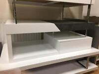White Gloss/Concrete Effect Coffee table/tv unit