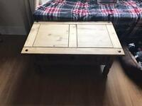 Large wooden coffee table with drawer £20 ono