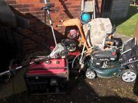 Petrol power tools job lot