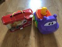 Tickle bricks and car toy set