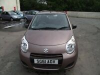 2011 SUZUKI ALTO, ONE OWNER FROM NEW, ONLY 11855 MILES,FSH ,MOT TILL AUGUST 2018