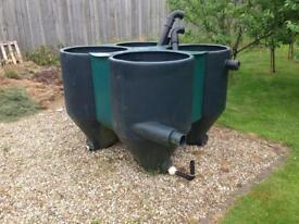 Very large capacity Koi pond filtration tank