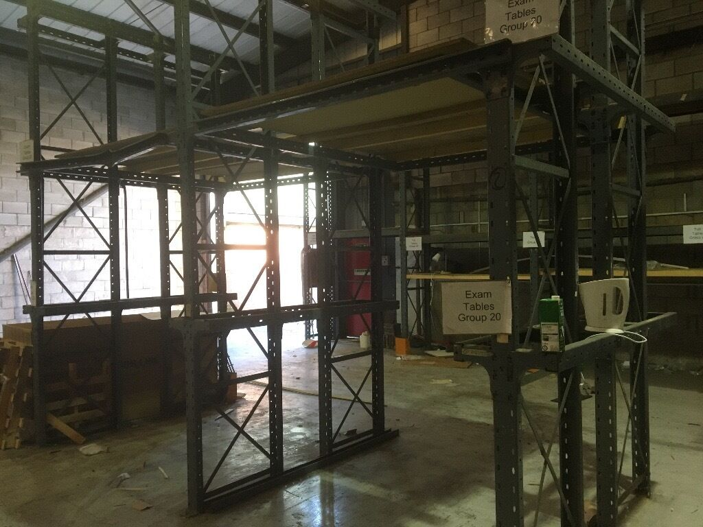 Dexion Speed Pallet Racking approx 15 bays, flexible and strong Excellent Condition. Over 4m High