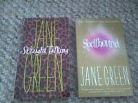 Jane Green books X 2 Spellbound and Straight talking Fiction