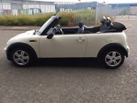 MINI ONE WHITE CONVERTIBLE, 58 PLATE, ONLY £3950 ono, FULL SERVICE HISTORY, MOT JULY 2017
