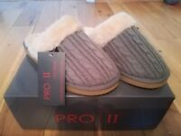 BRAND NEW: PRO11 WELLBEING Grey Orthotic (arch support) Slippers (Size 38/ UK 5)