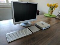 Apple Mac Mini - Monitor, Apple Keyboard and Trackpad