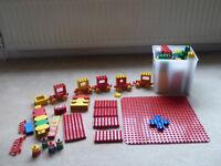 DUPLO bricks moxed set and several bases