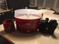 Red Tommee Tippee and Bottle Heater Set - hardly used
