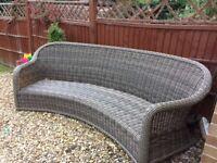 Large rattan garden chair