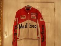 Leather jacket Marlboro Red White