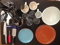 Assorted Kitchen Utensils & Crockery