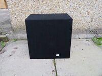Empty Subwoofer Black Carpted Boom Box