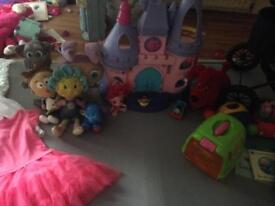 Large selection of girls toys & clothes