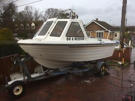 Warrior 150 Fishing Boat 60hp 4 Stroke Yamaha Power Trim Engine 16ft