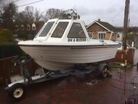 Warrior 150 Fishing Boat 60hp 4 Stroke Yamaha Power Trim Engine 16ft