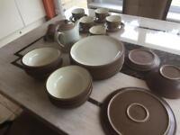 Denby dinner/tea service along with teapot milk jug and sugar teapot